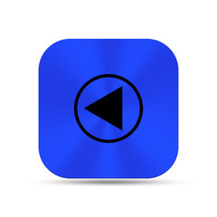 Deep blue metal buttons with backward icon