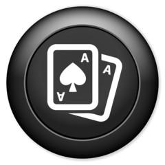 Casino button. Playing card symbol