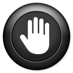 stop sign icon. hand button