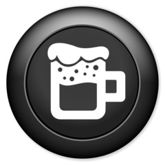 Glass of beer icon. Alcohol drink button
