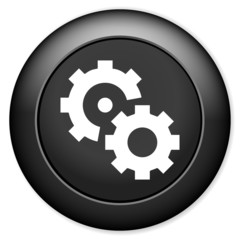 Gears settings sign icon. mechanism symbol.