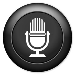 Microphone icon. Live music sign.