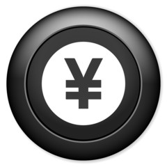 Yen sign icon. JPY currency symbol. Money button.