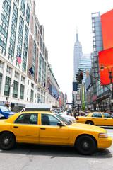 Manhattan New York New York city Yellow cab US