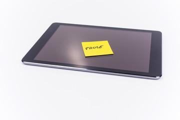 iPad, Tablet PC, Notizzettel, Post-It, Pause