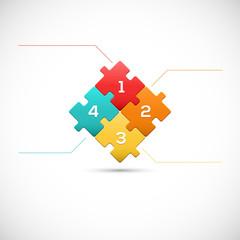 Puzzle piece 3D infographics business concept vector