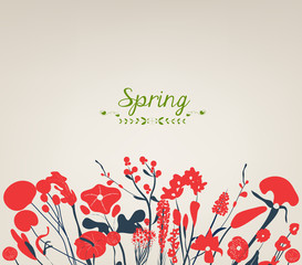 Happy spring flower vintage