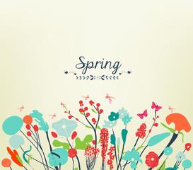 Spring postcard vintage