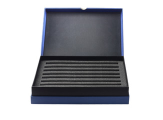 Open Box With Protective Packaging Sponge