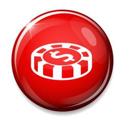 casino chips dollar icon