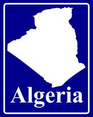 silhouette map of Algeria