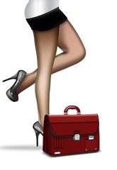 Sekretärin, Businessfrau mit Aktentasche