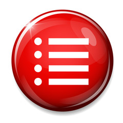 List sign icon. Content view option button