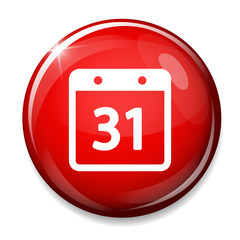 Date button, Calendar sign icon. 31 day month symbol.
