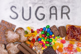 Food containing sugar poster
