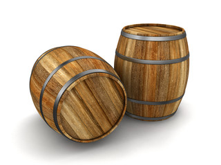 wine barrel (clipping path included)