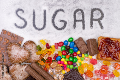 Food containing sugar - 76093267