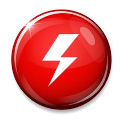 Photo flash sign icon. Lightning button