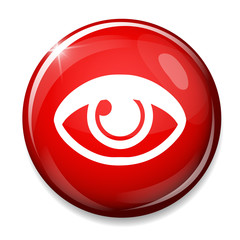 Eye sign icon. Publish content button. Visibility symbol.