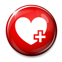 Heart sign icon. Add lover button. Plus love