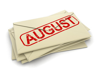 august letters  (clipping path included)