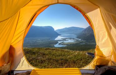 Tent lookout over Rautasjaure - Norrbotten - Sweden