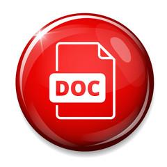 Download doc button. Doc file symbol.