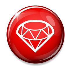 Diamond sign icon. Jewelry symbol.