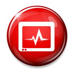 monitoring Heart beats symbol.