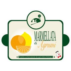 Etichetta per la marmellata di agrumi