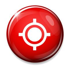 Target aim symbol.