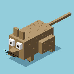dirty rat. 3D Pixelate