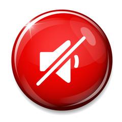 Mute speaker sign icon. Sound button.