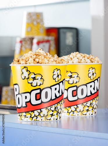Keuken foto achterwand Boodschappen Popcorn On Concession Counter