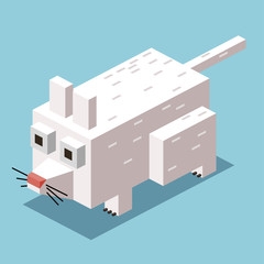 White Mice 3D Pixelate