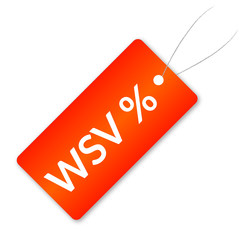 WSV Preisschild Rot