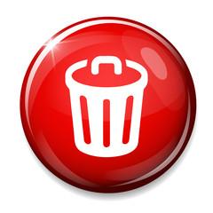 Recycle bin icon. trash symbol.