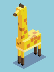 Giraffe 3D Pixelate