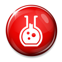 Laboratory equipment symbol.