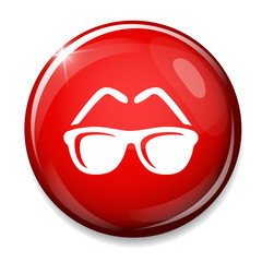 Sunglasses icon. glasses button.