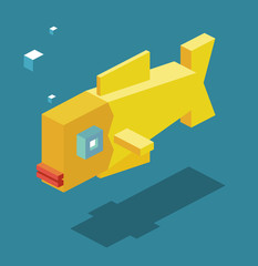 Fish in 3D Pixelate