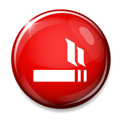 Smoking sign icon. Electronic cigarette button