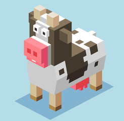 3D Pixelate Cattle