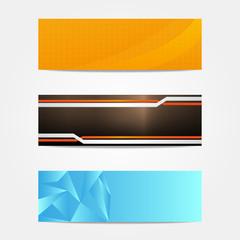 Banery - strona internetowa - trzy wzory