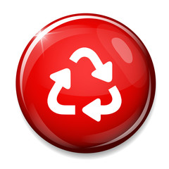 Recycle bin icon. Reuse / reduce symbol.