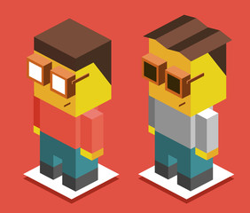 3D Pixelate Boys