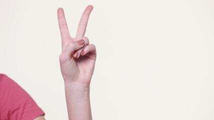 Gesture of victory