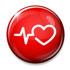 Heartbeat icon. Cardiogram symbol.