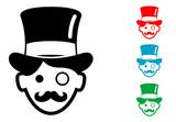 Pictograma icono millonario en varios colores