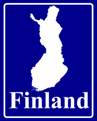 silhouette map of Finland
